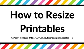 How to resize printables (how to print letter size onto half page, A5, Kikki K, Filofax, Erin Conden, Personal size or any other size you like!)