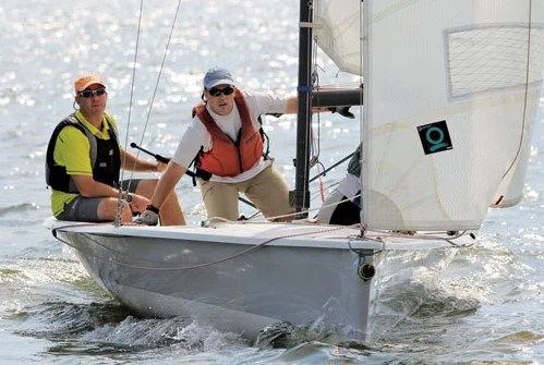 Racers leave a clean wake at the Galveston Bay Cruising Association's first certified Clean Regatta. Photo by John Lacy, GBCA