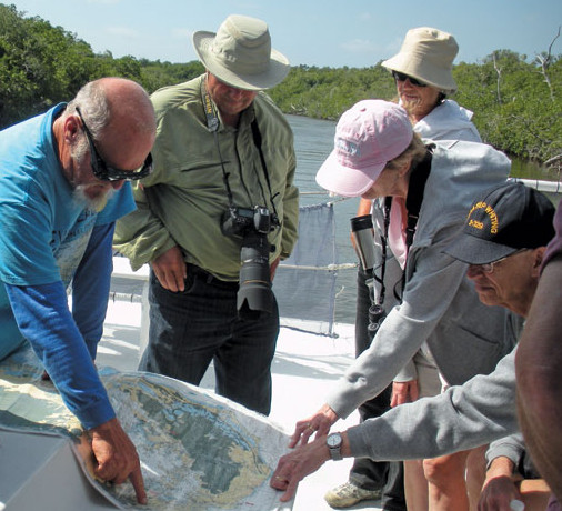 Everglades Boat guides take visitors from Flamingo through backwater bays. Photo by Robert Goodier