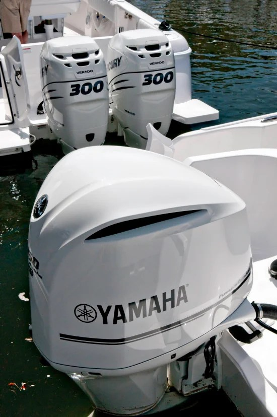 Yamaha and Mercury's four stroke outboards