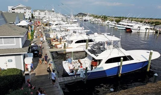 Competitors prepare to leave the docks on day one of the 2012 Pirates Cove Billfish Tournament. Courtesy of Pirates Cove Marina