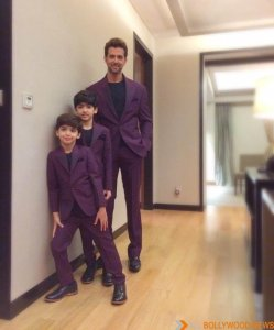 Hrithik with his inspiration, his sons Hrehaan and Hridaan