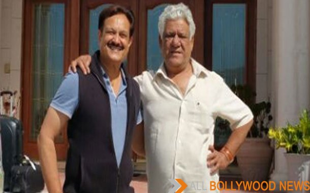 Actor Om Puri and Dr Romesh Japra at Japra Mahal