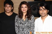 Ankit Tiwari Kajal Aggarwal and Deepak Tijori spotted at the song recording