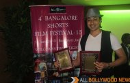 Mantra wins the Best Actor's Award at the 4th Bangalore Short Film Festival