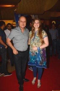 Anupam Kher and Director-Producer Vidhi Kasliwal at the trailer launch of Prem Ratan Dhan Payo presented by Fox Star Studios, produced by Rajshri Productions (P) Ltd, directed by Sooraj Barjatya