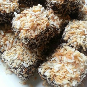 Sponge, chocolate, coconut. What is not to love?