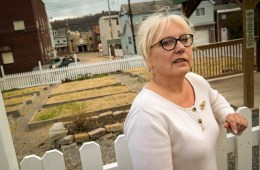 Mary Ellen Ramage has been the borough manager of Etna, a small river town northeast of Pittsburgh, for 25 years. Surrounded by water on three sides and located at the bottom of the North Hills, Etna is prone to frequent flooding. Photo: Lou Blouin