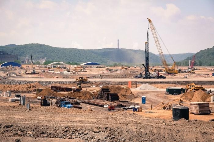 Workers prepare a site in Beaver County for Shell's multi-billion dollar ethane cracker. Photo: Reid Frazier