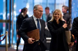 Oklahoma Attorney General Scott Pruitt arrives at Trump Tower in New York, Wednesday, Dec. 7, 2016. Trump has picked Pruitt to head the Environmental Protection Agency. Photo: Andrew Harnik / AP