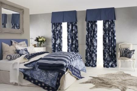 schlafzimmer mit gardinen