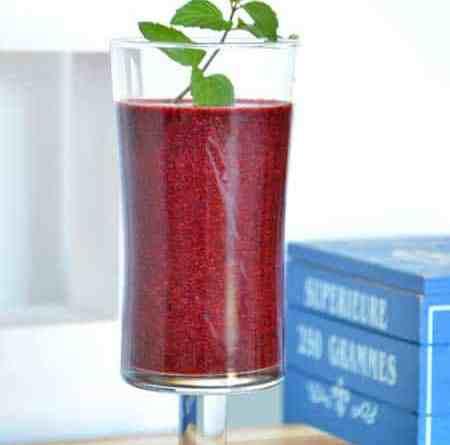 Heidelbeer-Birnen-smoothy