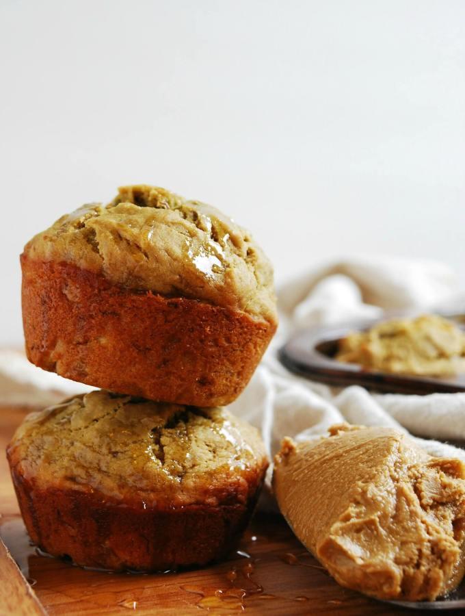 Sunbutter, Honey & Banana Muffins (GF, DF, Egg, Soy, Peanut, Tree nut Free, Top 8 Free, Refined Sugar Free, Vegan) Recipe by Allergy Awesomeness