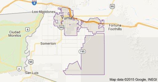 map to yuma
