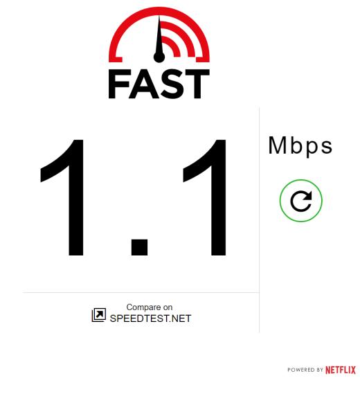 Netflix Speed Test Fast.com