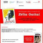 cartaz Evento Nacional Centenario Zélia Gattai na  Italia