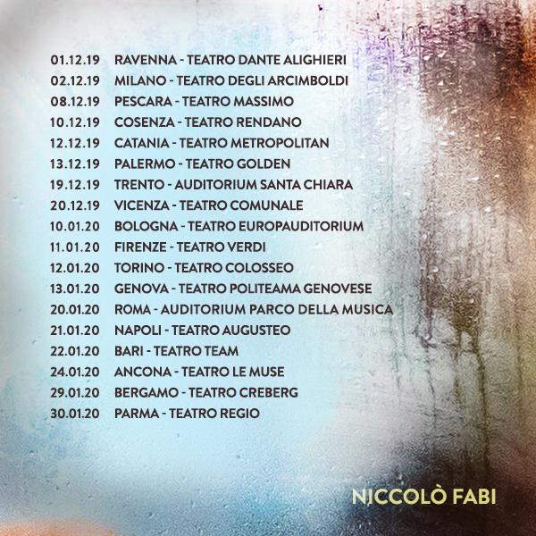 Niccolò Fabi_TOUR_2019-2020