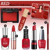 Red Beauty Products for Fall