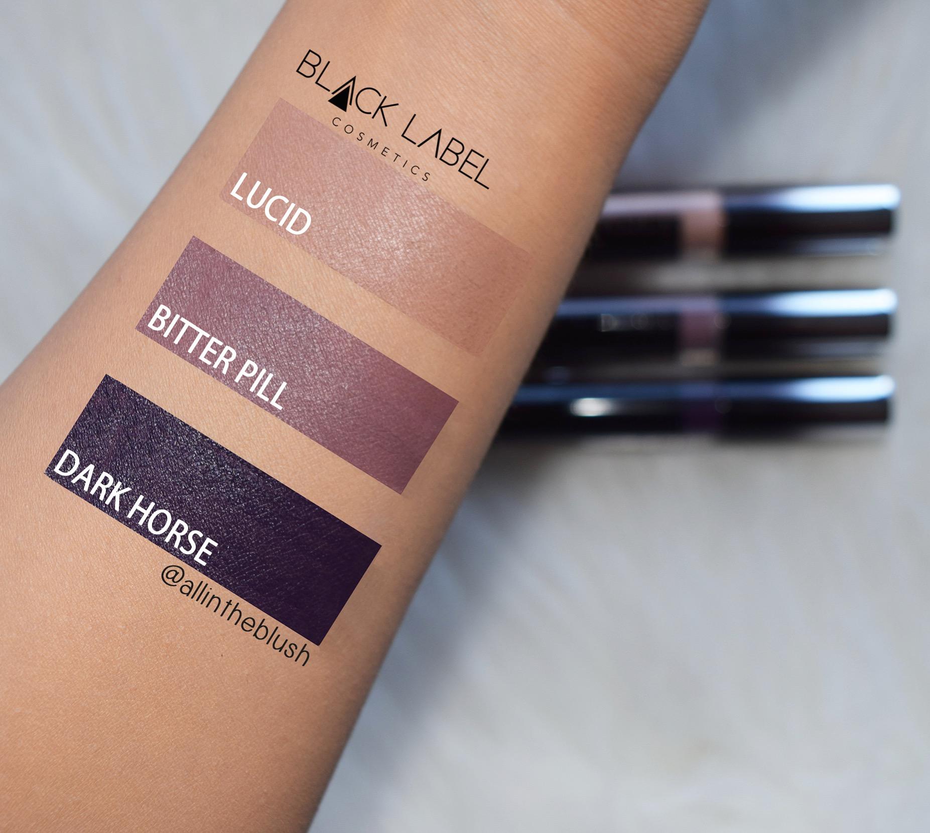 Black Label Lipstick Swatches