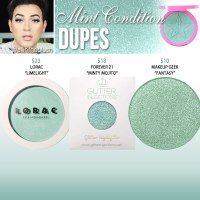 Jeffree Star Cosmetics Mint Condition Skin Frost Dupes