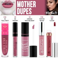 Kat Von D Mother Everlasting Liquid Lipstick Dupes