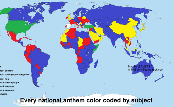 National Anthem Map