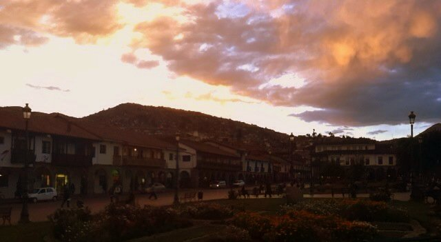 Sunset in Cusco, Peru