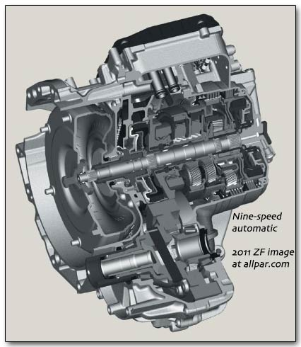 948TE nine-speed automatic (ZF-Chrysler)