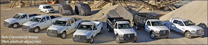 Ram Commercial truck and van lineup