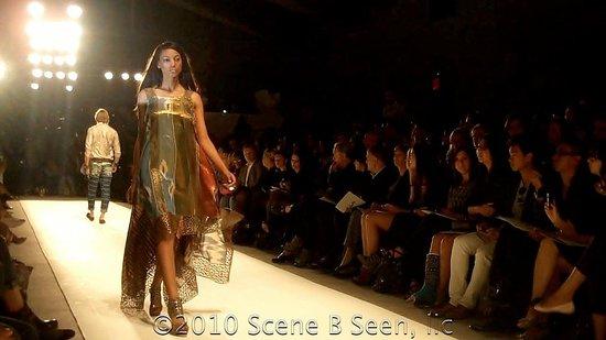 Green, red, gold dress from Guli Spring/Summer 2011