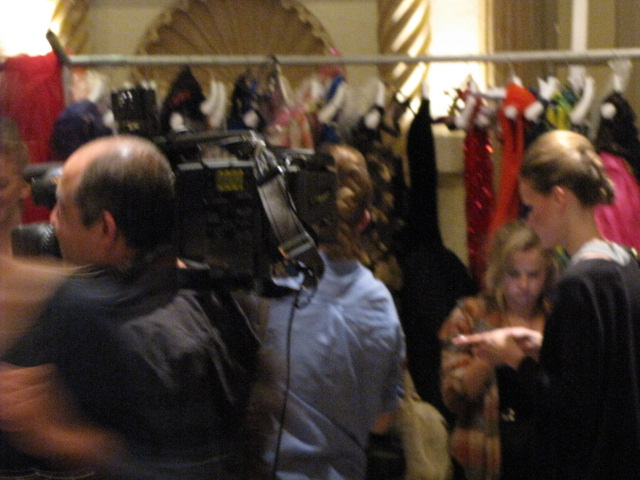 Cameramen, models, stylists and the social elite backstage at the Renato Balestra fashion show in Los Angeles on April 14.
