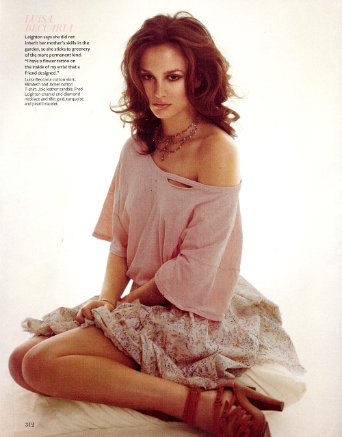 Leighton Meester in InStyle Magazine