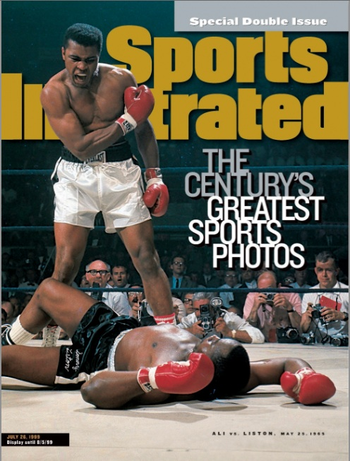 Mohammed Ali on the cover of Sports Illustrated by Neil Leiffer