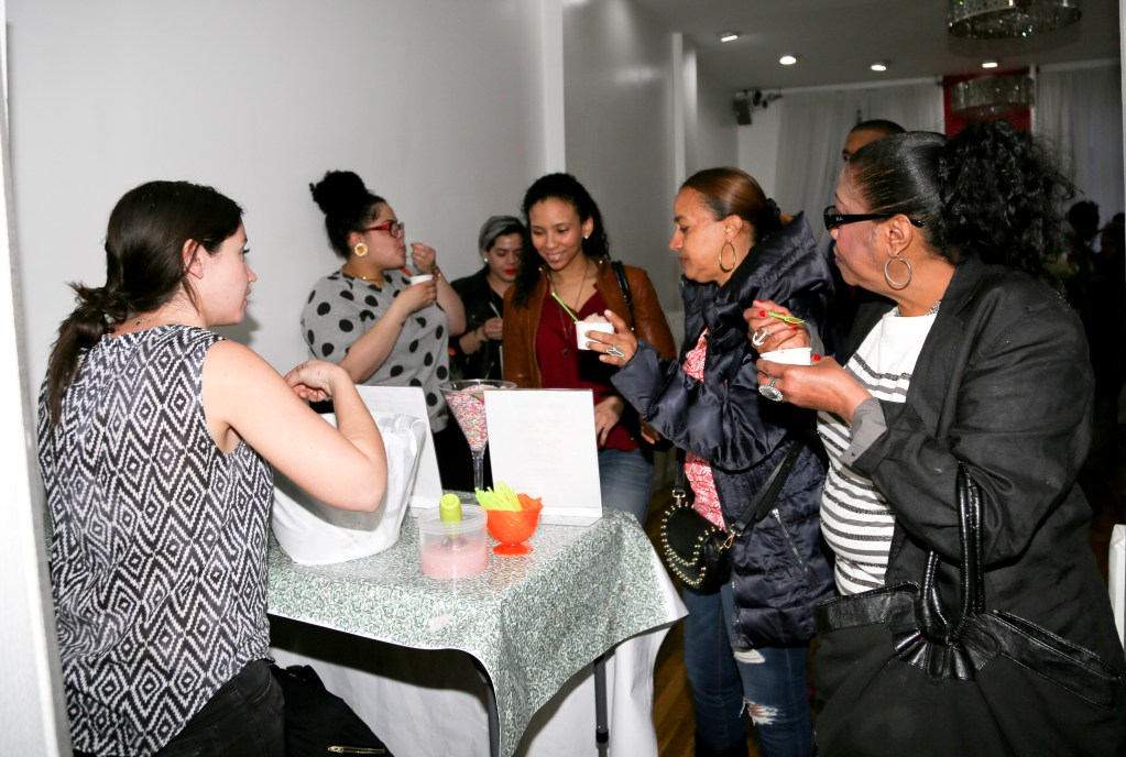 Flavor's Night Out attendees sample Tipsy Scoop Liquor Infused Ice Cream (Photo by Katherine Angelique)