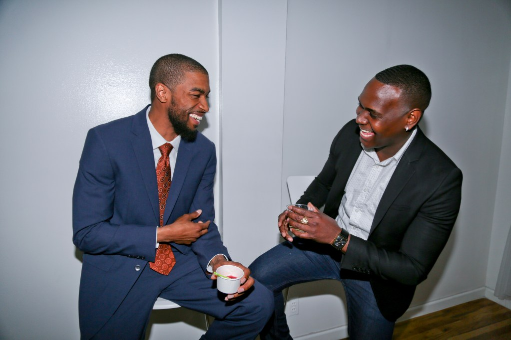 Mikal Sabree and Hector at Flavor's Night Out (Photo by Katherine Angelique)