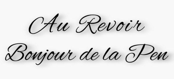 Au Revoir Bonjour de la Pen (logo designed by Cacha` Lopez)