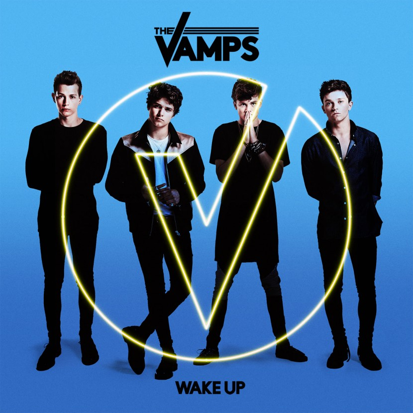 The Vamps on their Wake Up Album Cover