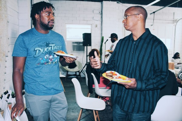 DeMarcus Mitchell and Chef Chris at #MP3 Photo by LoudPen