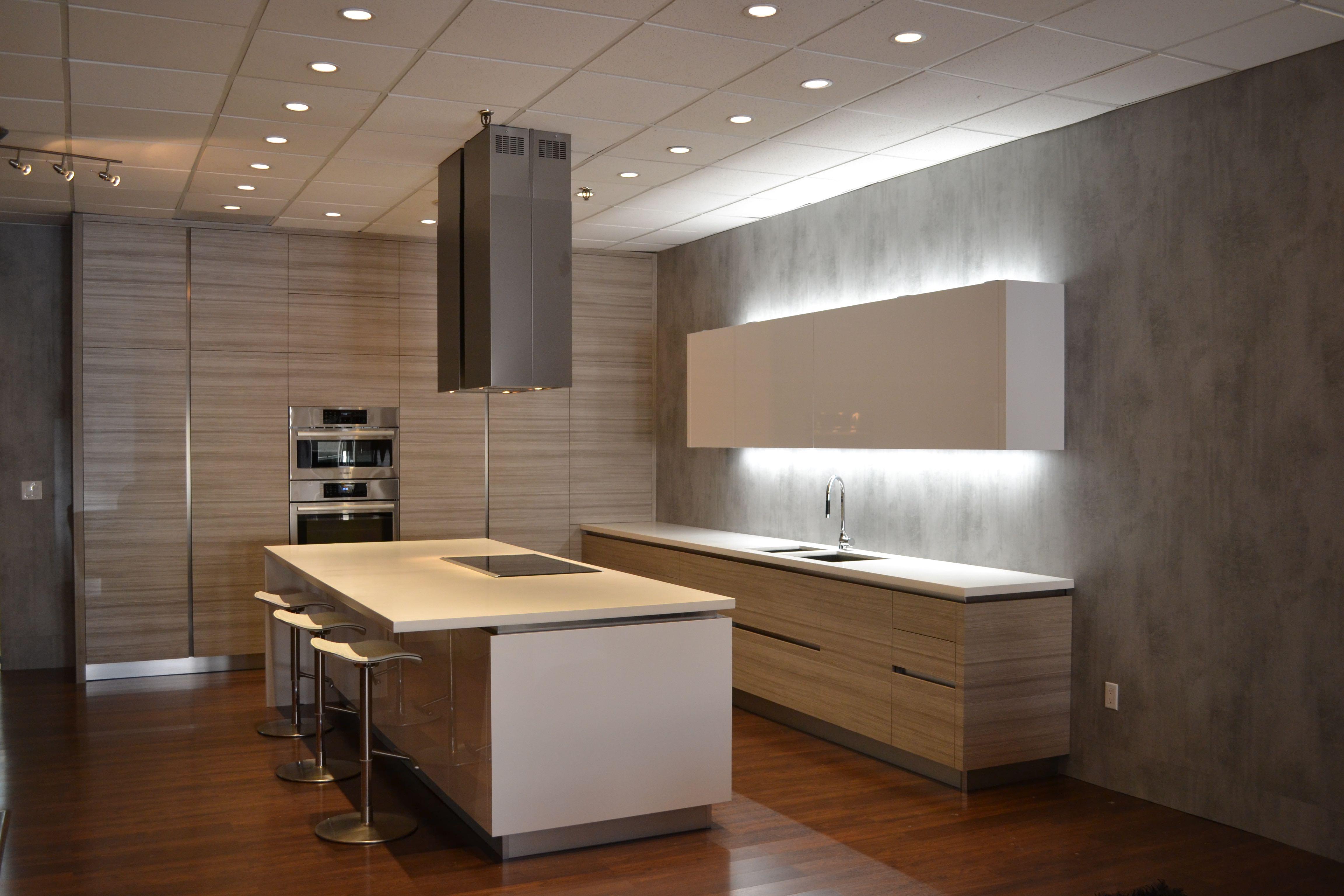 Cabinet Doors Textured Laminate laminate kitchen cabinets A modern kitchen with LK55 Etobicoke textured laminate cabinet doors in horizontal grain direction