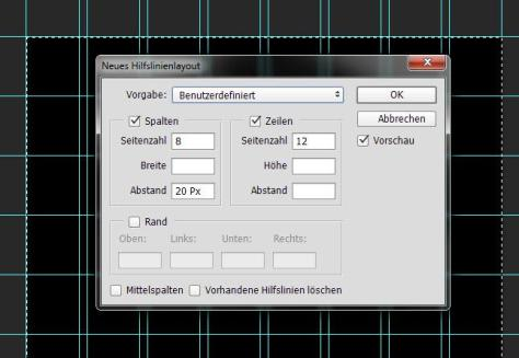 Photoshop-Hilfslinien-Layout