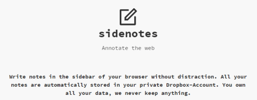sidenotes chrome extension