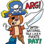 Talk Like a Pirate Day - teddy bear- all that nerdy stuff