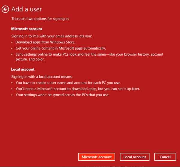 Add user in Windows 8 - step 3 - all that nerdy stuff