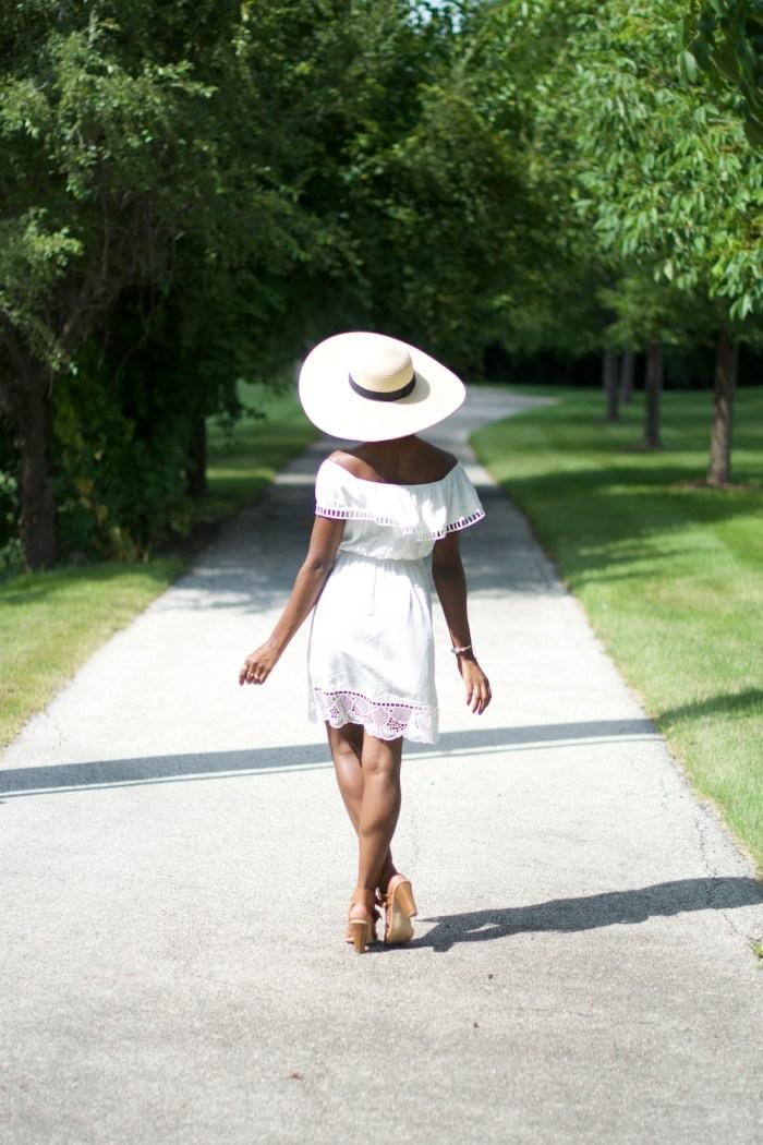 white-off-the-shoulder-express-dress