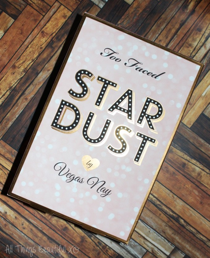 My swatches & review of the Too Faced Star Dust Palette & Kit from Vegas Nay on All Things Beautiful XO. It includes a gorgeous Las Vegas themed eyeshadow palette, an eyeshadow primer, mascara, & a stunning loose pigment! | www.allthingsbeautifulxo.com