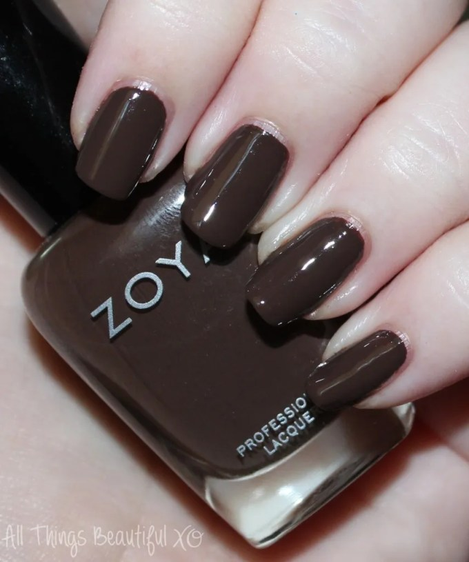 Zoya Nail Polish Swatch in Desiree  Swatches & Review of the Fall Focus Nail Polish Collection including Janel, Charli, Desiree, Hannah, Lidia, & Sia on All Things Beautiful XO | www.allthingsbeautifulxo.com