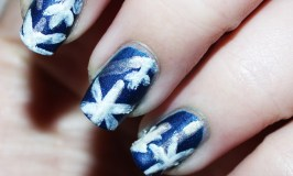 ZOYA Satin-Snowflake Nail Art Super easy snowflake nail art using only a bobby pin! Basic & quick! Check out more posts about beauty, makeup, skincare, & nail art on All Things Beautiful XO