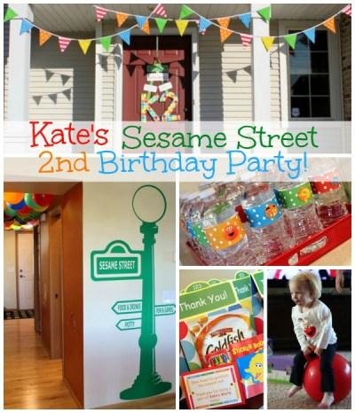 Kate's Sesame Street Themed 2nd Birthday Party | www.allthingsgd.com