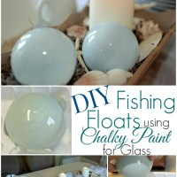DIY Fishing Floats with Chalky Paint for Glass