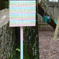 Easy Wood Shim Sign